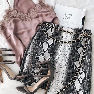 9ddab99804ea Dresses   Skirts - Snakeskin mini skirt